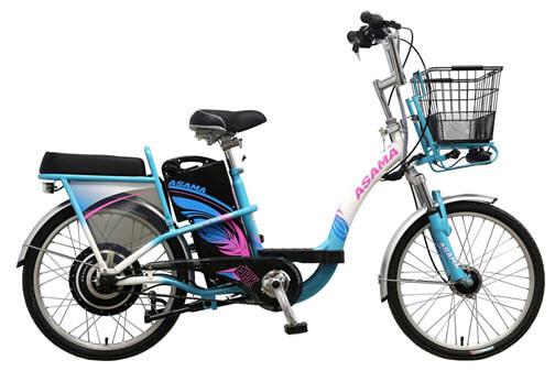 Xe đạp điện Asama EBK-002 phối màu cá tính, mang vẻ đẹp độc đáo, ấn tượng.