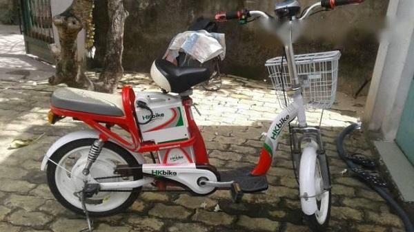 Xe đạp điện cũ HKBike phù hợp với các bạn học sinh
