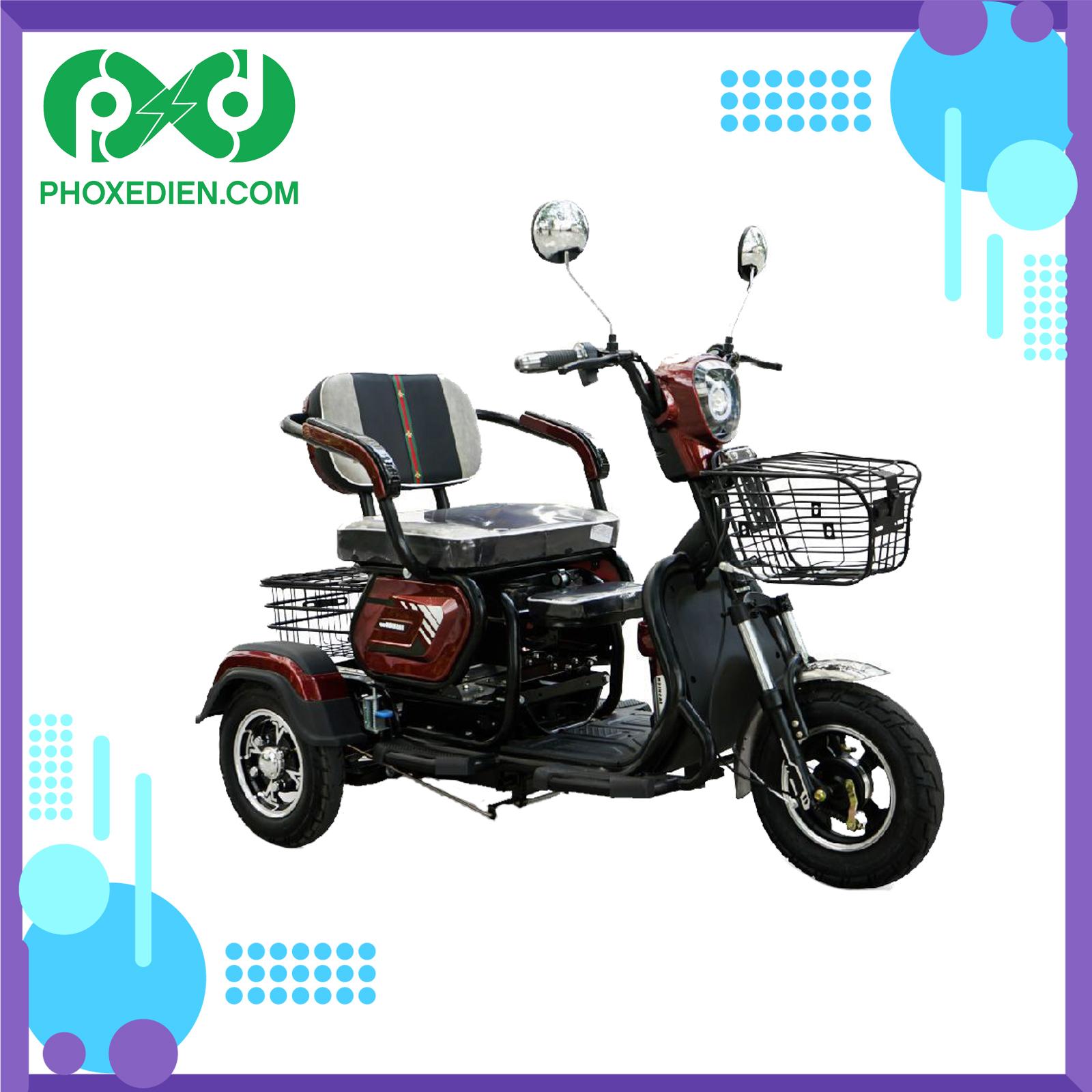 Xe điện 3 bánh có đa dạng kích cỡ, hình dáng tùy theo nhu cầu sử dụng.
