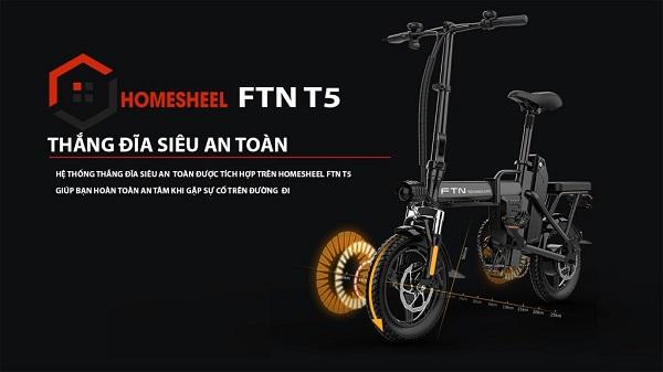 Xe đạp điện gấp thời trang, tiện ích và an toàn.