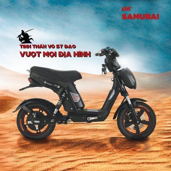 Xe đạp điện DK Samurai – Đen bứt phá mọi địa hình.