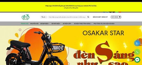 Phoxedien - mua xe đạp điện Yadea chính hãng, giá cả phải chăng