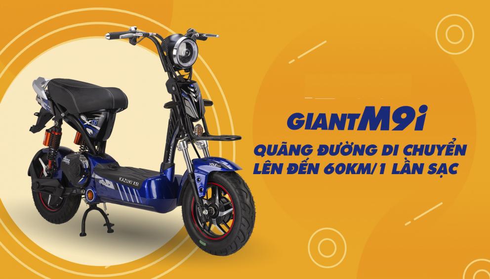 Quảng đường xe máy điện giant m9i đi được 60km cho mỗi lần sạc