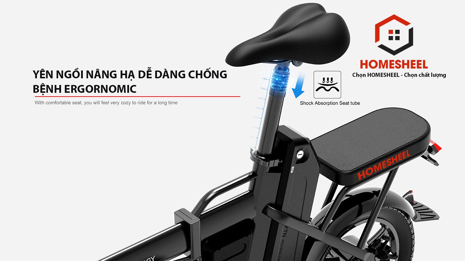 Thông số kỹ thuật xe đạp điện gấp Homesheel FTN T5-10Ah