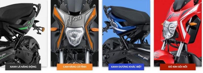 Màu sắc đa dạng của xe máy điện Yadea XMEN NEO