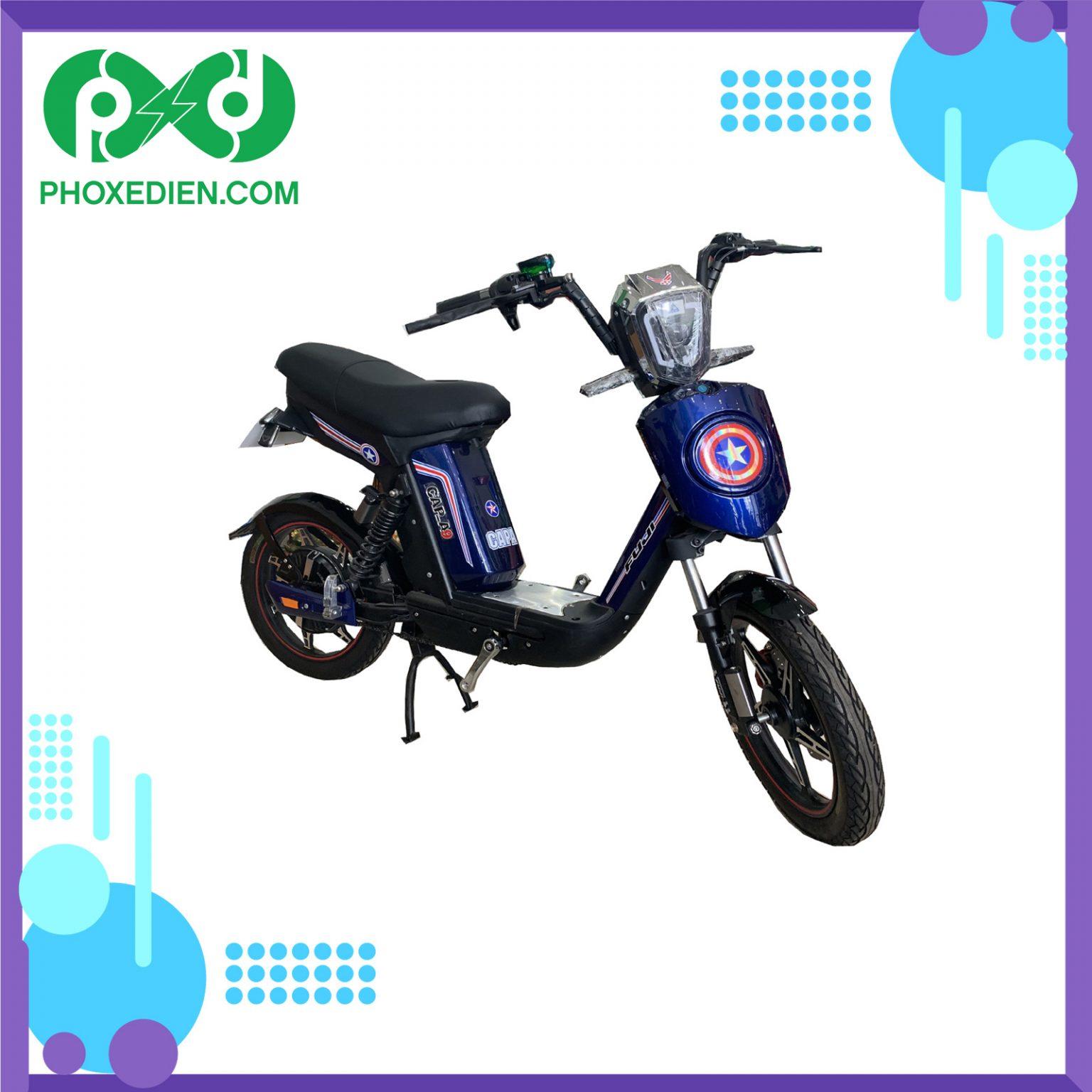 Xe đạp điện fuij cap a9 - màu xanh phoxedien.com