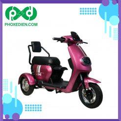 Xe điện ba bánh M6 - màu hồng
