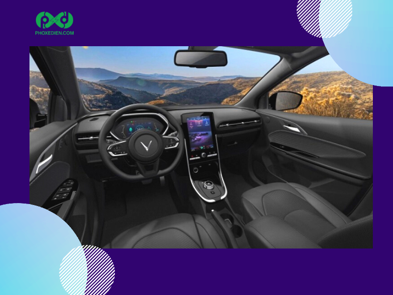 Ô tô điện mới của Vinfast gây ấn tượng với phần màn hình cảm ứng hiện đại