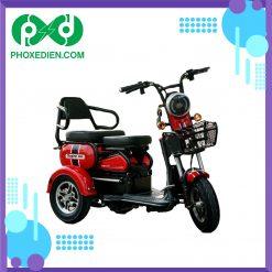 xe máy điện 3 bánh super 2021 màu đỏ