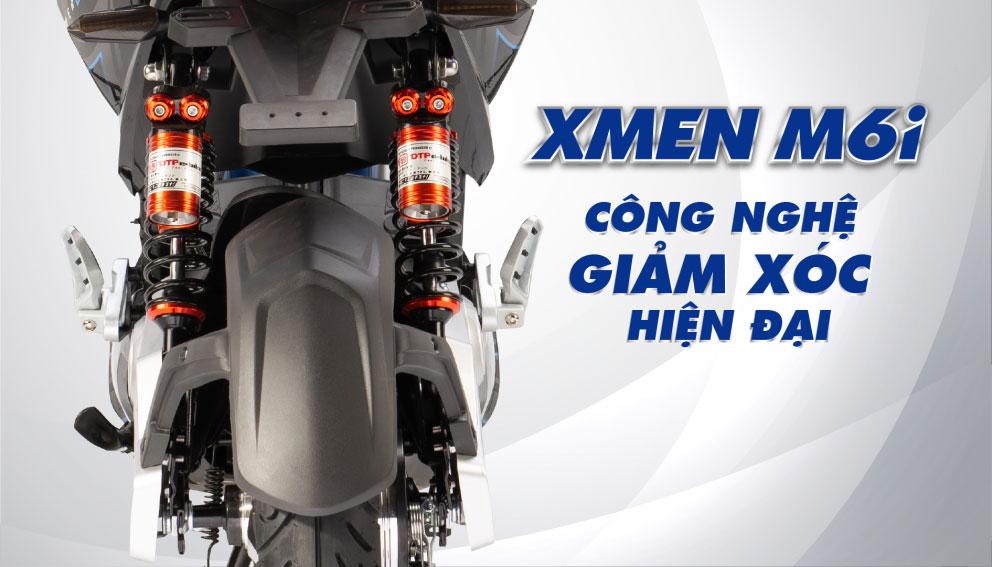 Công nghệ giảm xóc hiện đại - Xe máy điện xmen dtp m6i