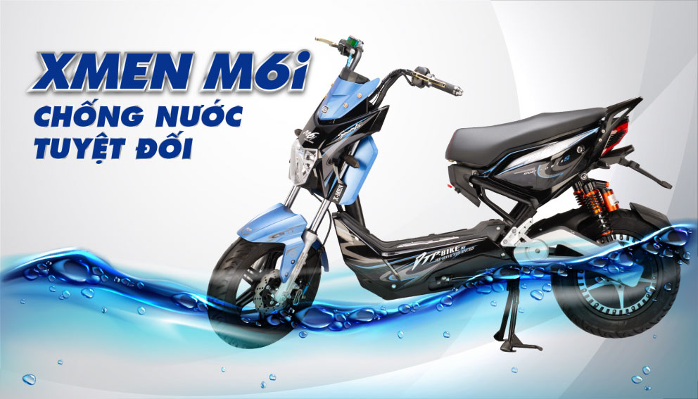 Động cơ chống nước tuyệt đối - Xe máy điện dtp Xmen M6i
