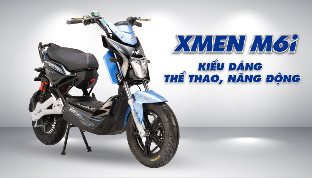 Xe máy điện Xmen DTP M6i Kiểu dáng thể thao, năng động