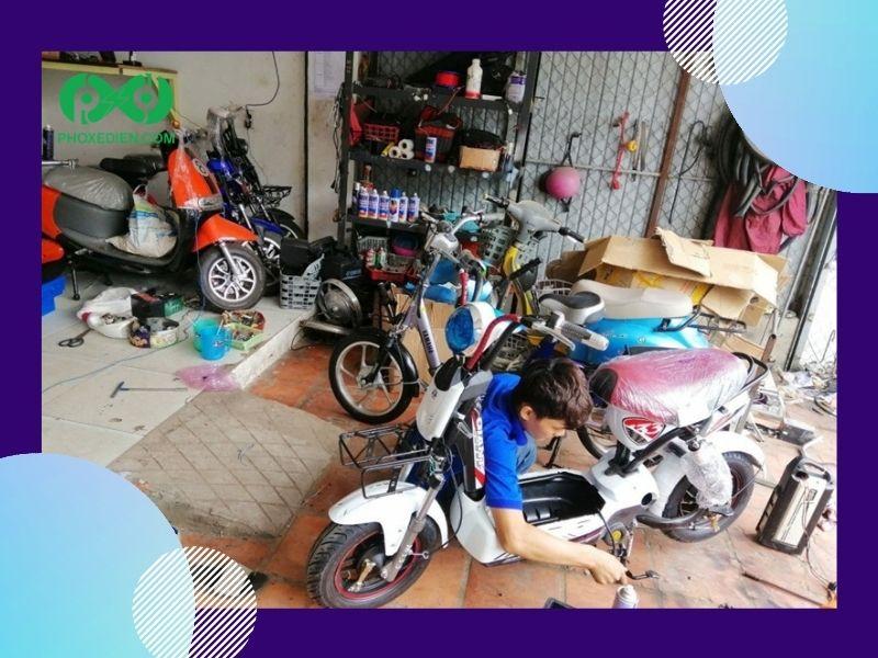 Xe đạp điện kêu do phần lỗi ở phanh