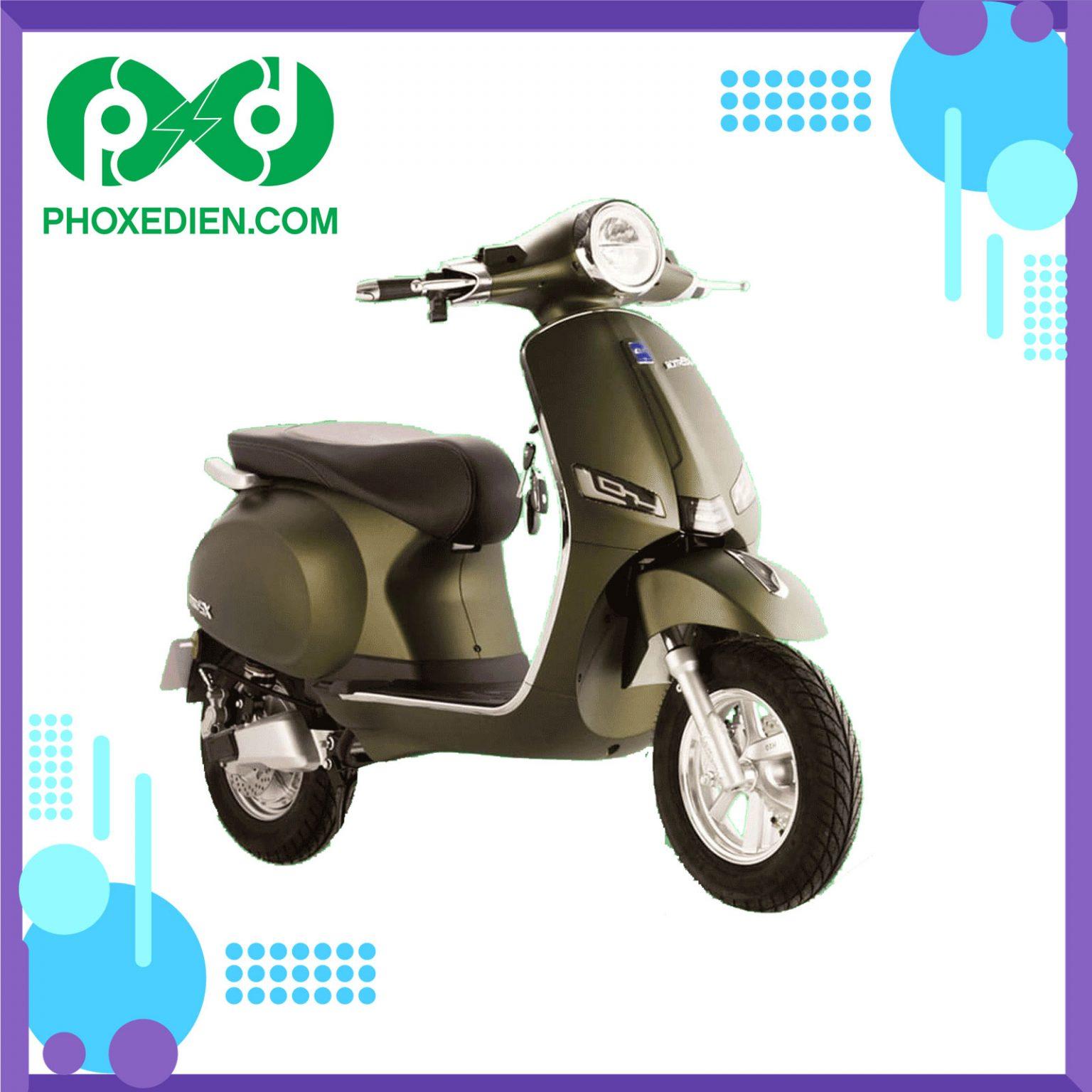 Xe máy điện DK ROMA SX Xanh Riêu
