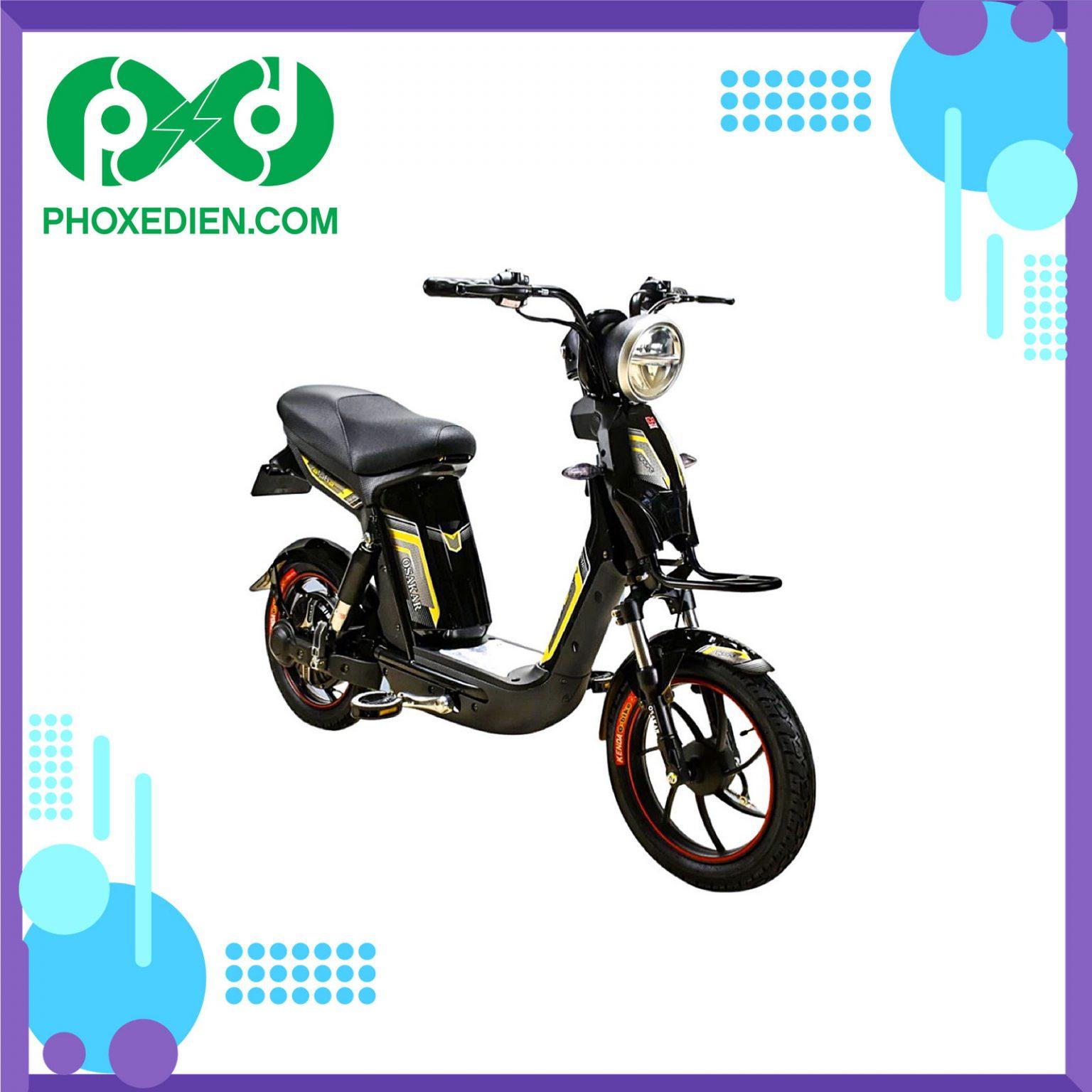 Xe đạp điện Osakar Alpha Sport 2021 - màu Vàng đen