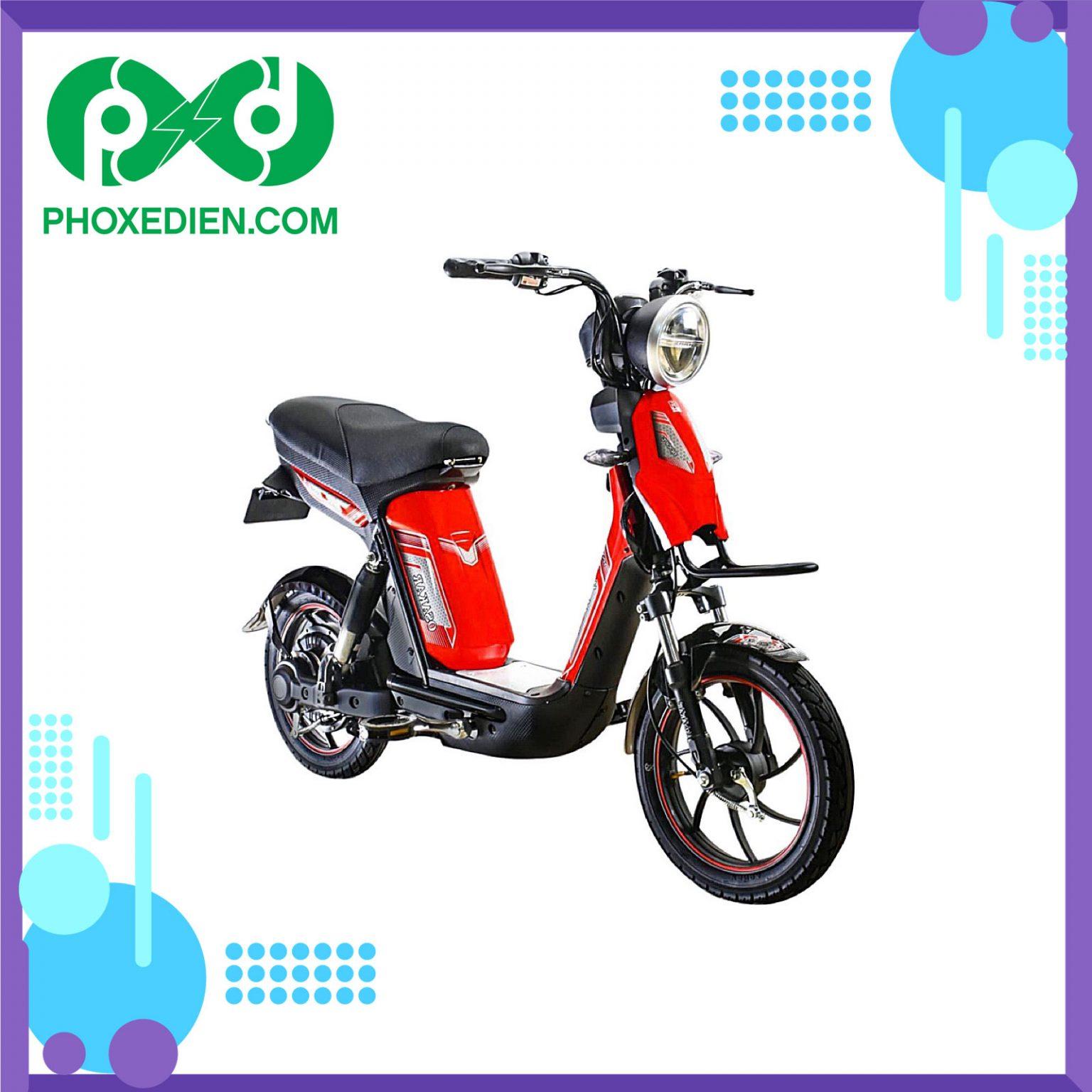 Xe đạp điện Osakar Alpha Sport 2021 - màu đỏ