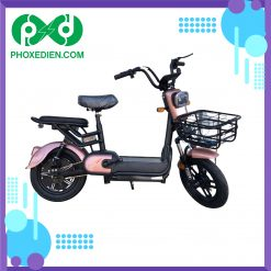 Xe đạp điện mini 2021 - Màu hồng