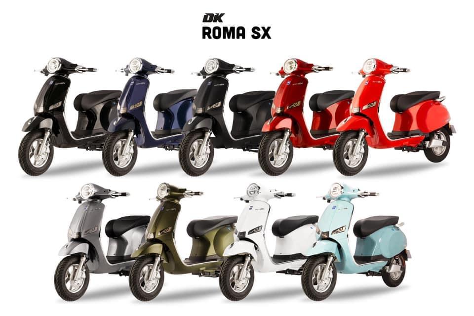 Xe máy điện DK Roma SX đa màu sắc - Phố Xe Điện hcm