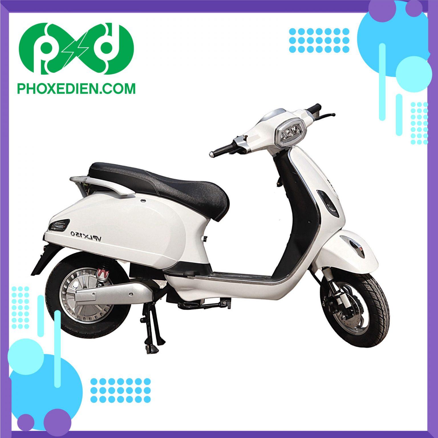 Xe máy điện Kazuki VP LX150 - Màu trắng