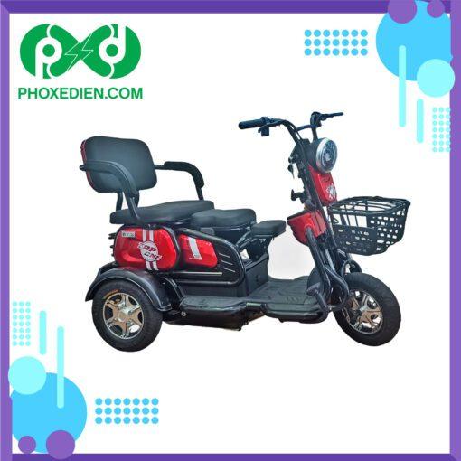 xe máy điện 3 bánh top one màu đỏ
