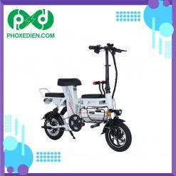 Xe-đạp-điện-gấp-THELI--15AH--màu-trắng--Phố-Xe-Điện